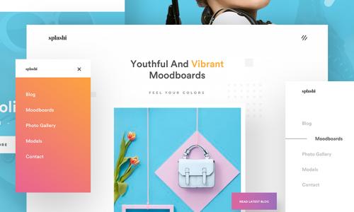 mood board wesbite design